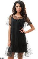 Женское платье с сеткой 25412 КТ-949