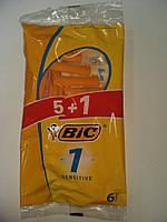 Бритвы Одноразовые станки для бритья  BIC 1 Sensitive 5+1шт