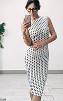 Женское платье в горошек 25399 КТ-952