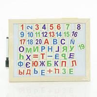 Деревянная игра Цифры и буквы 0293 для развития в кульке
