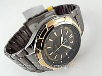 Часы мужские Q@Q  5Bar стильные на металлическом браслете, цвет антрацит