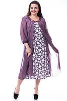 Платье стильный батал с шифоном