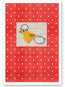 """Набор для вышивки крестиком (открытка)""""Цеплёнок"""""""