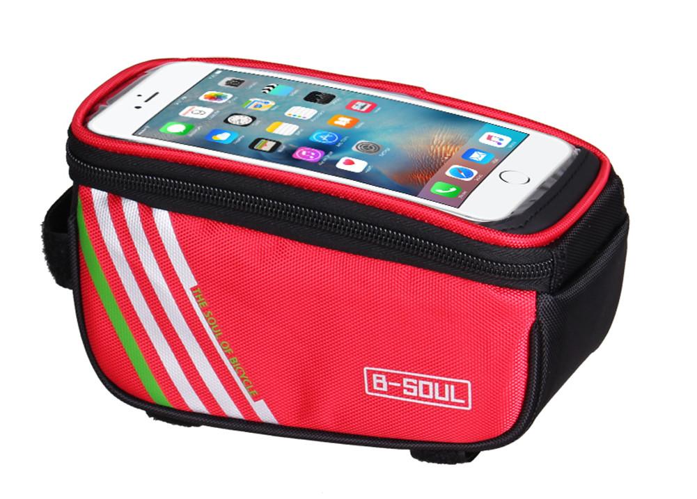 """Сумка B-Soulна раму, для телефона 5.5 - 6.0"""", красная"""