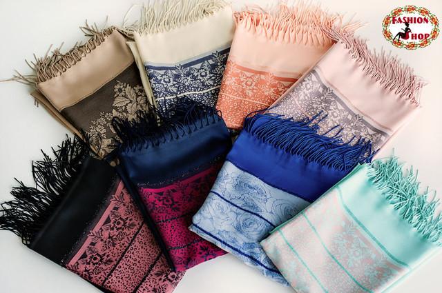 Стильные, модные легкие, шерстяные шарфы
