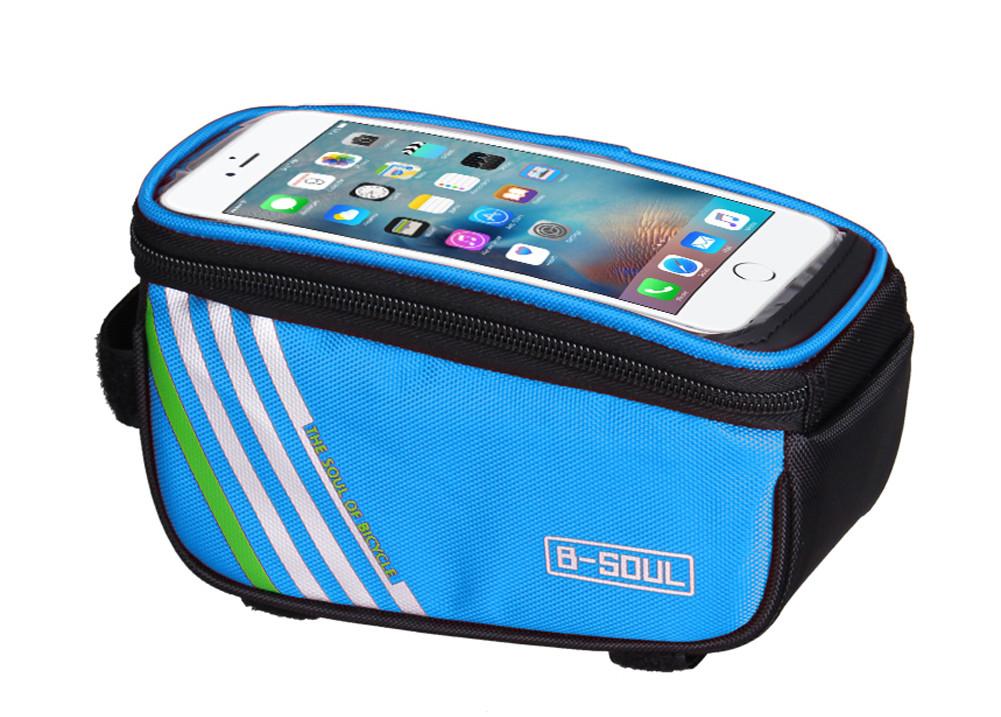 """Сумка B-Soul на раму, для телефона 5,5"""", синяя"""