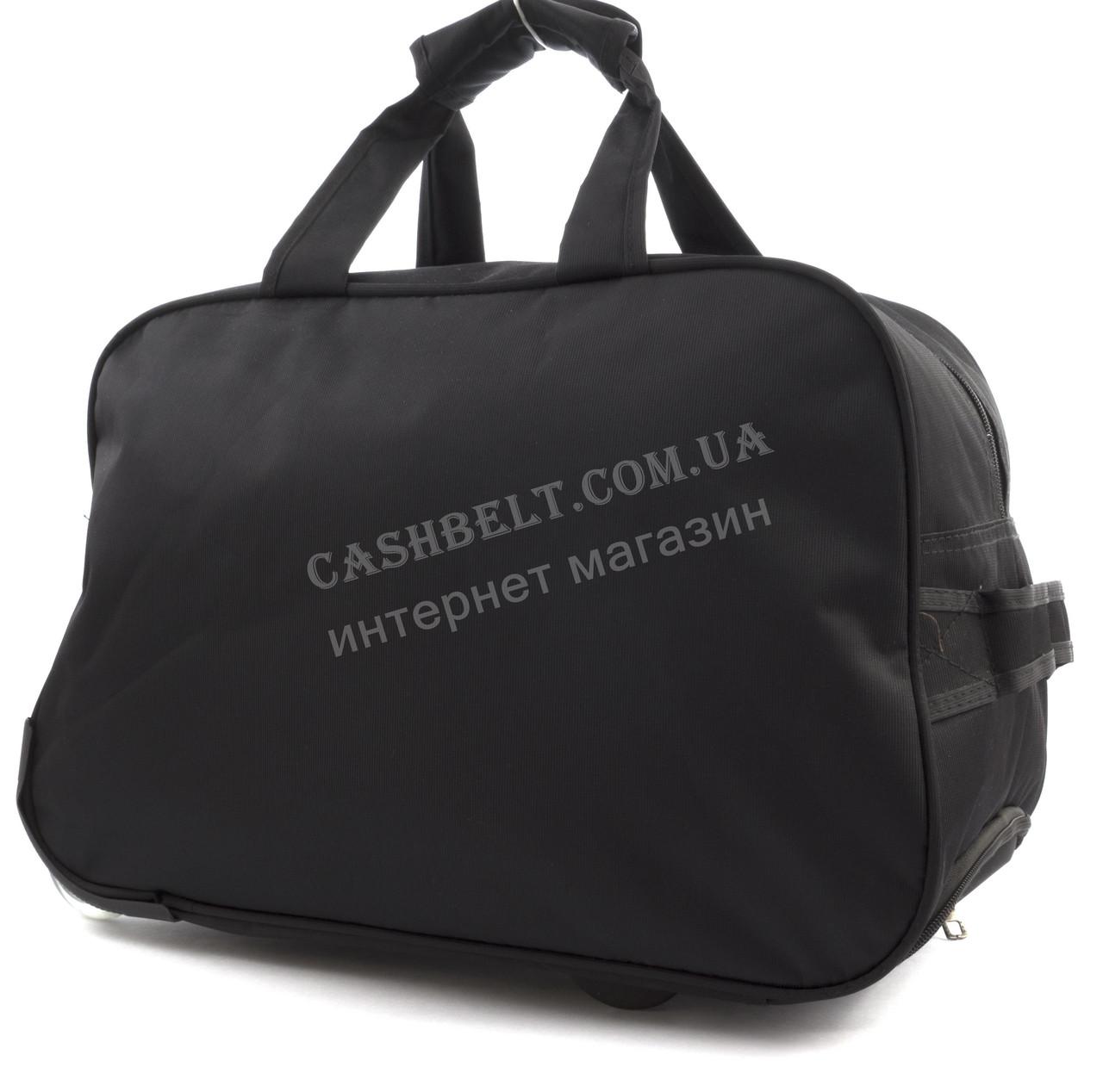 dcecef27203c №3 черная Стильная прочная дорожная сумка саквояж на колесиках с плотной  ткани SANSIDA art.