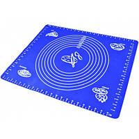 Силиконовый коврик гладкий с разметкой 49 см 39 см