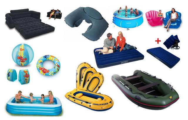Надувные Товары - бассейны, матрацы, лодки, надувные круги
