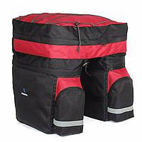 Сумка-штани на багажник Roswheel 60L, чорно-червона, фото 1