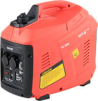 Генератор электрического тока, инверт-й, бензин, 1600 Вт, 230В, 21,7А, расход 4,7 л/ч YATO YT-85422.