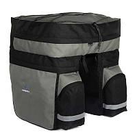 Сумка-штаны на багажник Roswheel 60L, черно-серая, фото 1