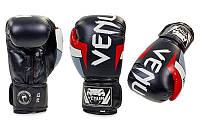 Перчатки боксерские FLEX на липучке VENUM ELITE BO-5338-BKW