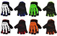Вело-мото перчатки текстильные Скелет CE-048