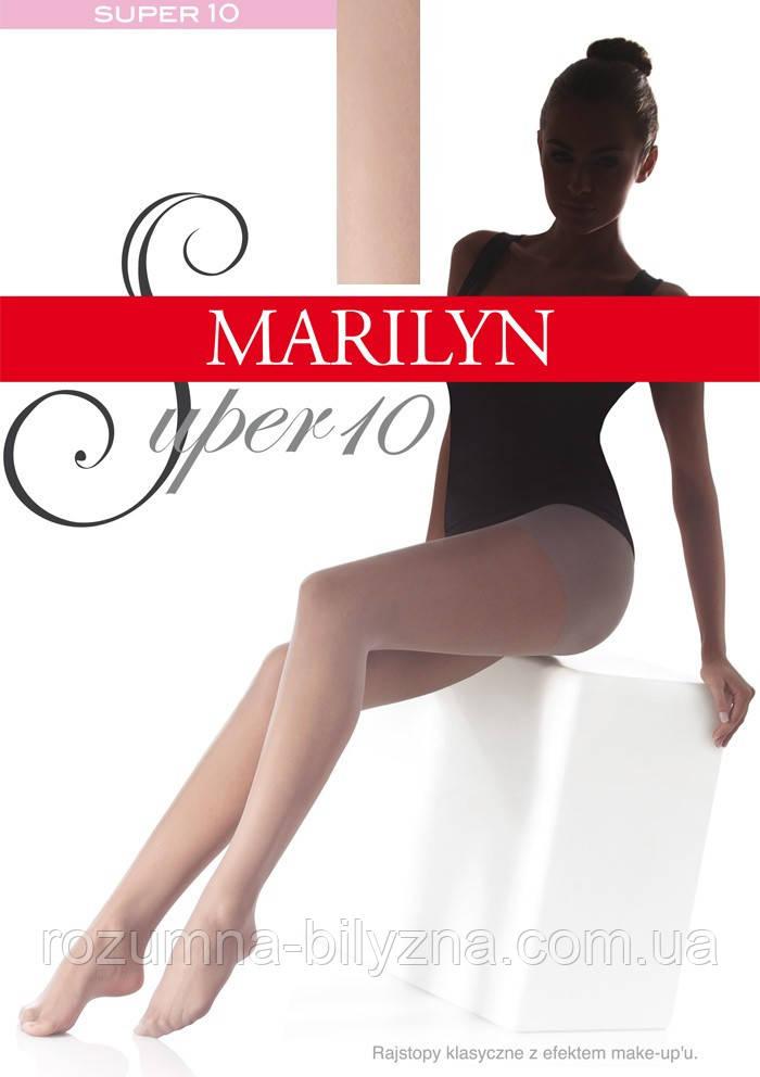 Marilyn SUPER 10 den женские колготки черные ( nero ),4-L