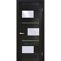Двери ламинированные пленкой ПВХ  Куб  ПО (стекло сатин) венге