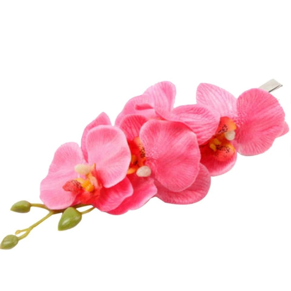Зажим,заколка с цветами весна -лето 2017