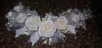 Свадебная веточка для прически невесты (кремовая / айвори)