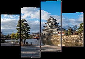 Модульная картина Восточный пейзаж 126* 82,5 см  Код: w7099