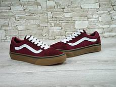 Мужские кеды Vans Old Skool Maroon Gum, Ванс Олд Скул, фото 2