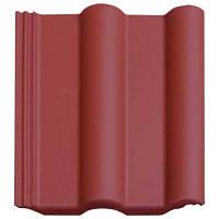Черепица цементно-песчаная Двойная римская красная матовая