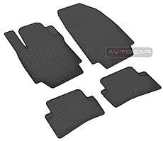 Резиновые коврики для SMART c 2000-2010- , комплект 2шт - передок  , цвет: черный, Stingray