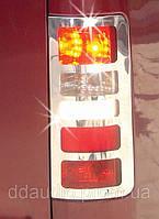 Накладки на стопы нержавеющие Ford Connect 3 вариант