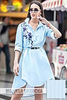 Платье в полоску с сакурой Черри