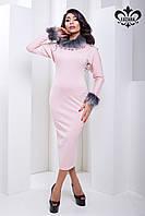 Элегантное женское кремовое платье Бриони Luzana 44-52 размеры