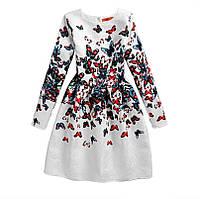 Детское платье с бабочками Tеri 7095