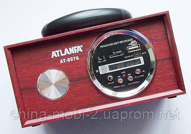 Акустическая колонка Atlanfa AT-8976, MP3/SD/USB/FM, brown