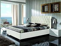 Кровать Классик в обивке с мягким изголовьем односпальная