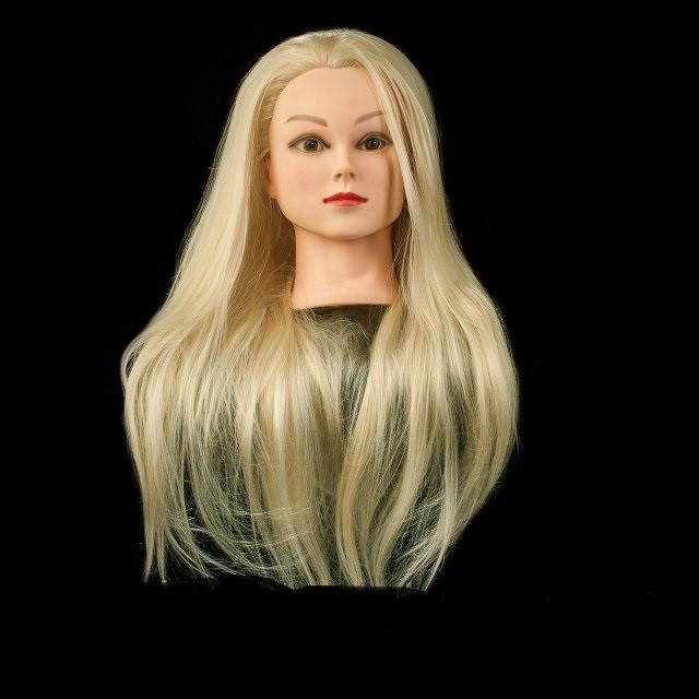 Учебная голова, длина 65-70 см, цвет блондинка