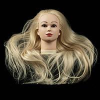 Учебная голова длина 70см, цвет белый(blond) GLV-02B