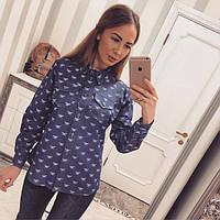 Молодежная модная рубашка 880068