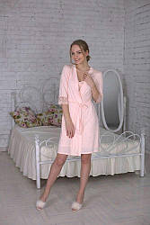 Халат Devore нежно-розового цвета 357.