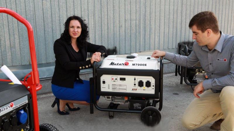 Бензиновый генератор MATARI M 8000E + блок управления ATS MATARI 1P50/3P25