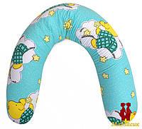 """Подушка """"Банан"""" 2в1 : беременность+кормление (полистироловые шарики)"""