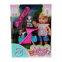 Simba Кукла Эви и ее любимцы, с коляской и аксессуарами (5733080), фото 1