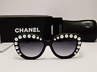 Женские солнцезащитные очки Chanel Lux 5801 Черный цвет