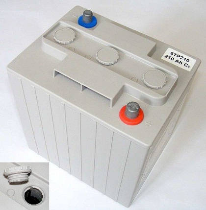 Тяговый аккумулятор глубокого цикла Powerbloc 6ТР210, фото 2