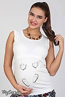 Облегающая майка для беременных Careti new молочная