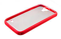 Чехол-бампер для Samsung i9500 Galaxy S4 красный