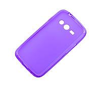 Силиконовый чехол для Samsung Galaxy Ace 4 G313H фиолетовый