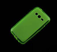 Силиконовый чехол для Samsung Galaxy Ace 4 G313H зеленый