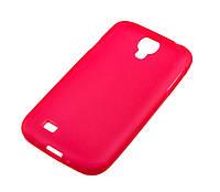 Силиконовый чехол для Samsung i9500 S4 красный/прозрачный