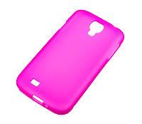 Силиконовый чехол для Samsung i9500 Galaxy S4 розовый
