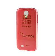 Силиконовый чехол для Samsung i9500 Galaxy S4 ультратонкий красный