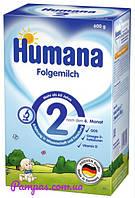 Сухая молочная смесь Humana 2 c пребиотиками, 600 г.