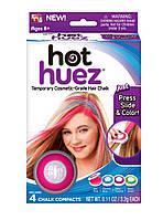 Пудра для окраски волос Hot Huez (цветные мелки для волос)